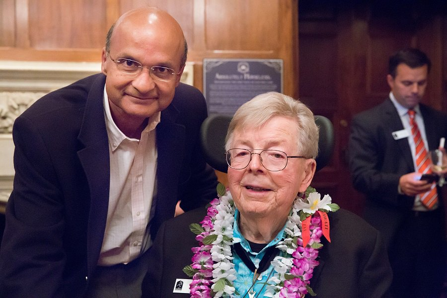 Figure 1 CEO Omar Ishrak and the amazing Earl Bakken, who passed in 2018.